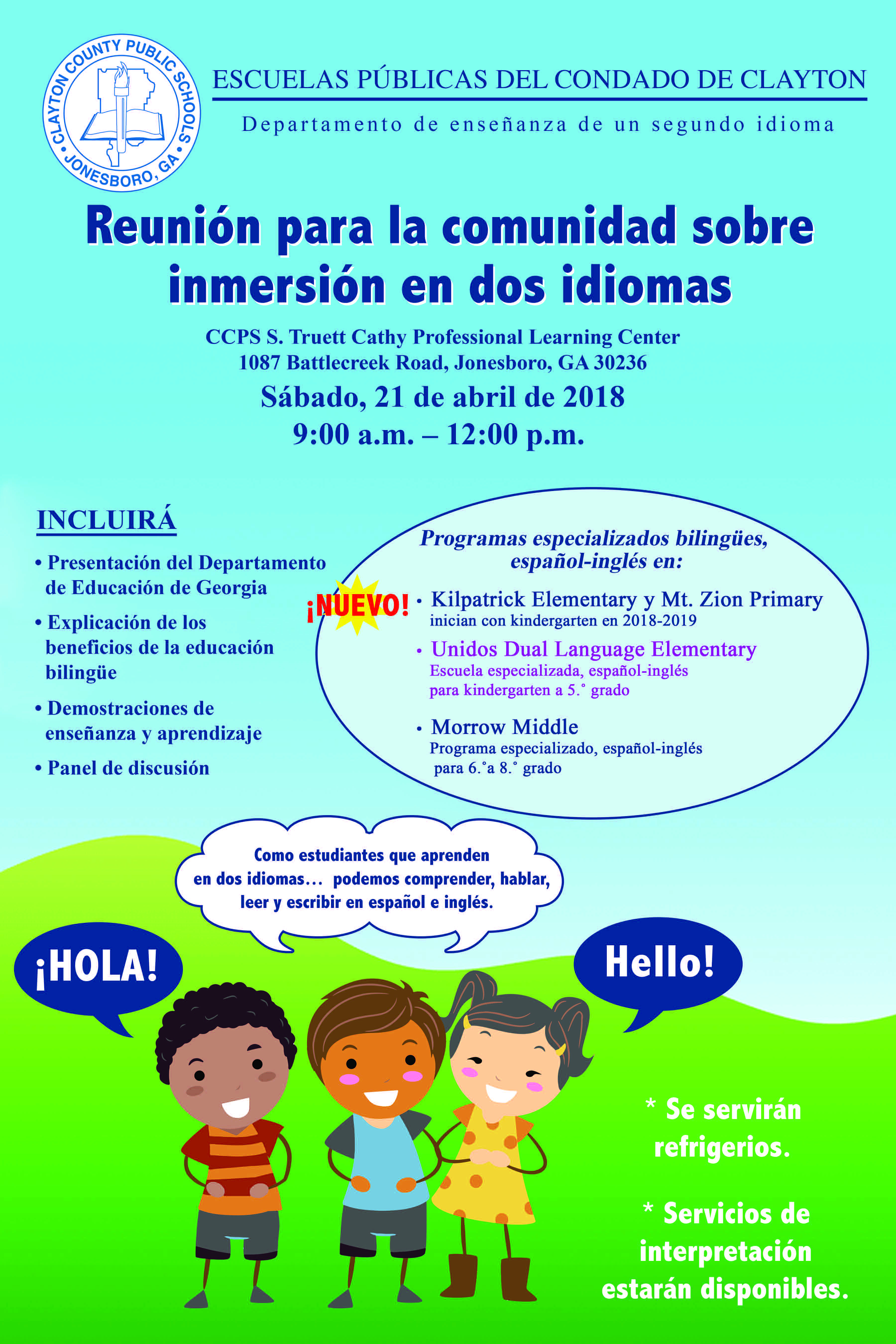 Dual Language Immersion Community Meeting - CCPS
