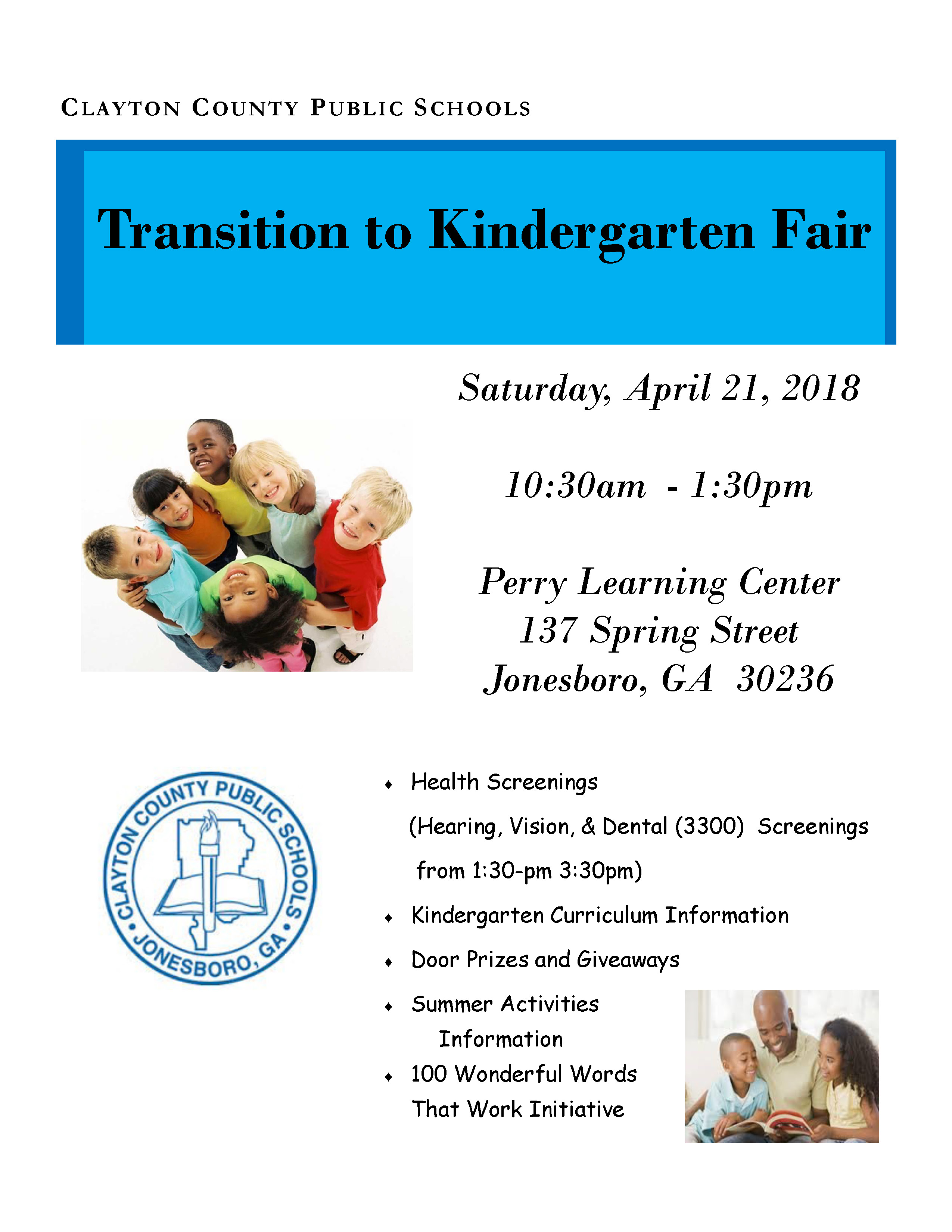 Ccps Pre K Department To Host Transition Fair On Saturday April 21