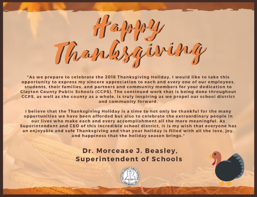 CCPS Thanksgiving Message